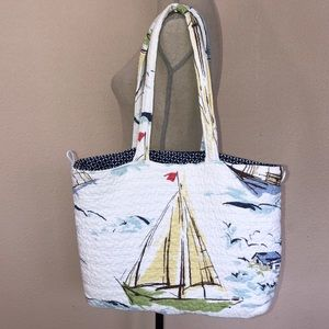 Sails and Beach Theme Tote Bag